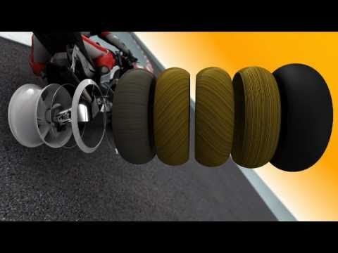 racing tires - In motorcycle racing - competing without protecting crumple zones - the tires decide more than just the racing results... and thats why they are so importan...