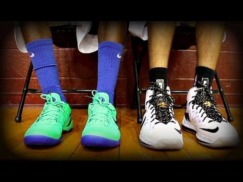 Nike  - KickGenius bringing you the Nike Basketball Elite Performance Test for 2013 which includes the Kobe 8 SYSTEM, LeBron X and the KD V Elite models. The video i...