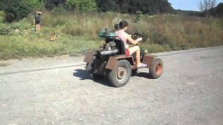 Мини-трактор. Покатушки
