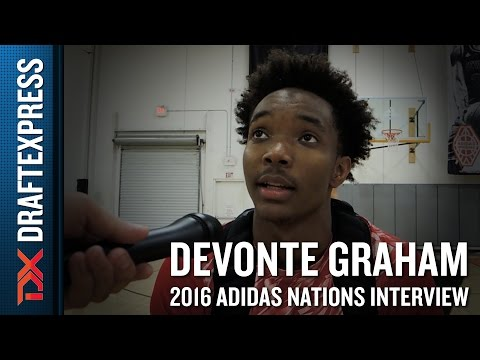 Devonte Graham Interview from 2016 Adidas Nations