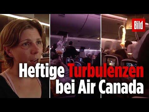 Turbulenzen bei Flug von Kanada Richtung Australien:  ...