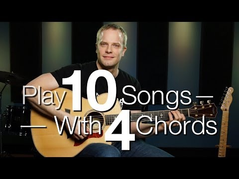 Play 10 Songs With 4 Chords – Guitar Lessons For Beginners