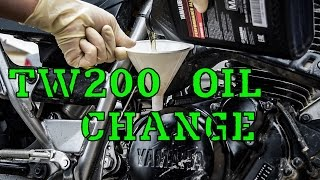 6. how to change oil on a YAMAHA TW200