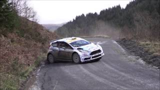 Taken on the second running of the Gartheiniog stage, Osian shows supreme car control here, throwing his R5 Fiesta around a triple caution tightening hairpin right, into a long open hairpin left.