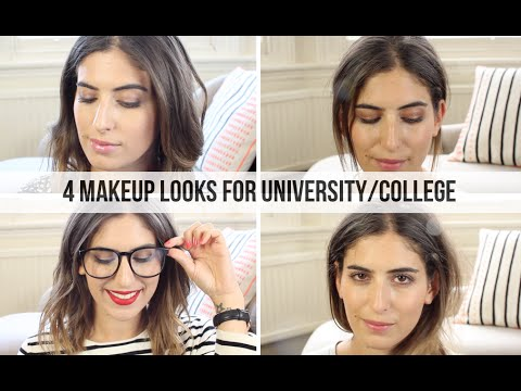 4 Makeup Looks for University/College // Lily Pebbles
