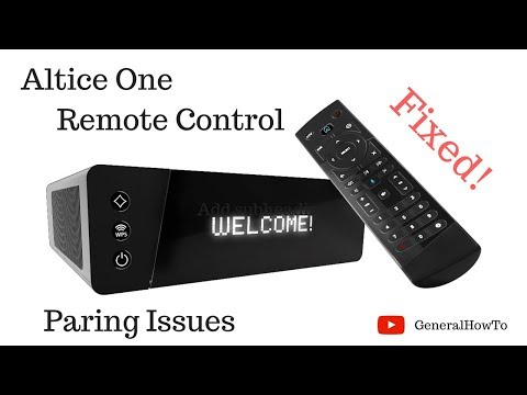 Altice One Remote Control Pairing Issues