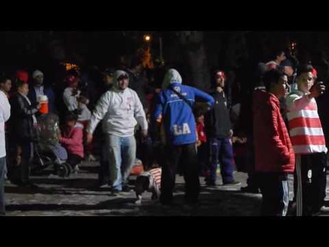 los andes hinchada en la plaza libertad parte 1 - La Banda Descontrolada - Los Andes