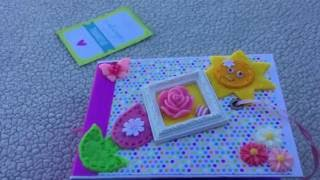 Hello...I am sharing one of my mini albums. I made it using the doodlebug hello sunshine 6x6 paper pad. The album measures 4.5x3.75 in. I hope you like this ...