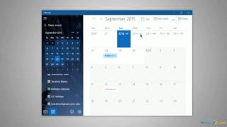 From http://www.windows10update.comUsing the Calendar in Windows 10