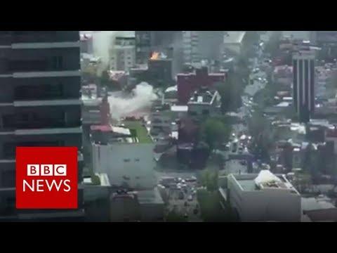 Mexico: Moment earthquake struck - BBC News