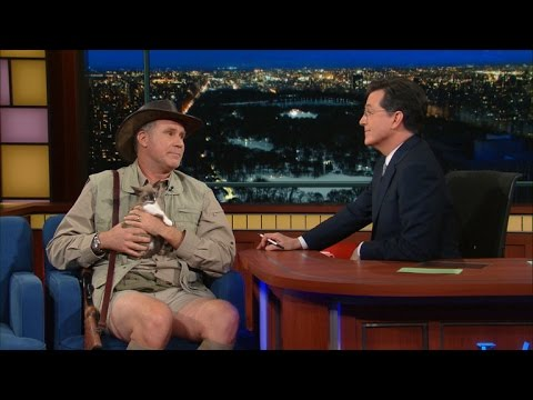 Will Ferrell was hella funny on Colbert last night