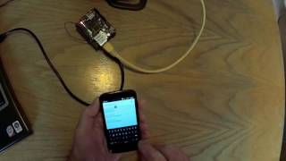 Arduino Ethernet shield demonstration of remote control of a LED from a Mobile Phone