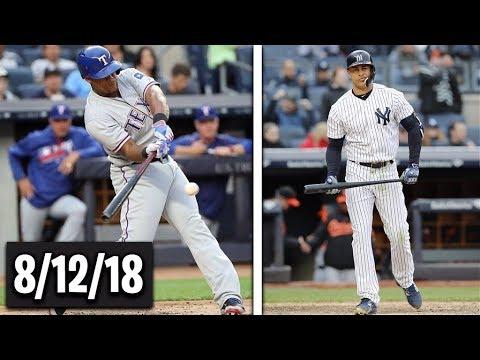 Texas Rangers vs New York Yankees Highlights    August 12, 2018