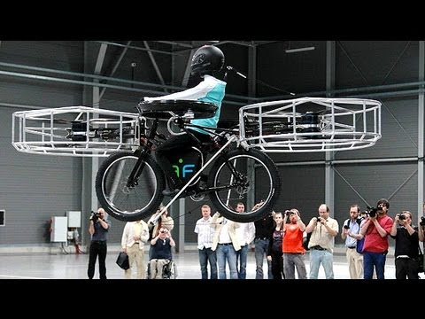 Flying - In the Czech Republic three companies have teamed up to make a prototype of an electric bicycle capable of flying. Read more... For now, the flying bike is s...