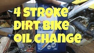 9. 4 Stroke oil change Suzuki RMZ