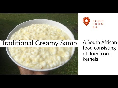 How To Make The Famous South African Dish - Creamy Samp || South African YouTuber