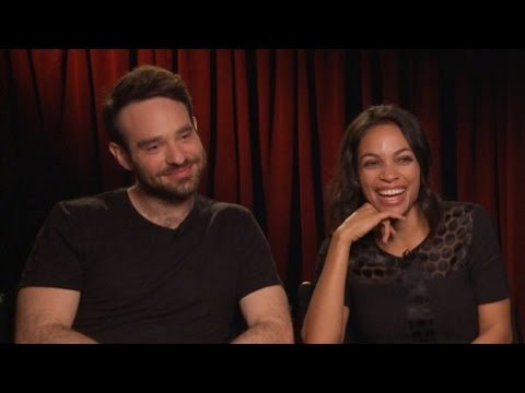 "Daredevil's Rosario Dawson and Charlie Cox Play ""Superhero vs. Celeb"""