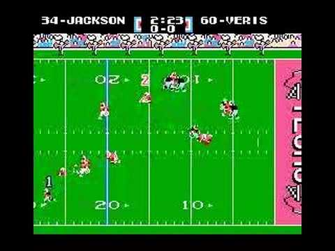 Tecmo - Bo Jackson goes 99 yards and takes out a full quarter of game clock in the greatest football video game of all time, Tecmo Super Bowl for the NES.