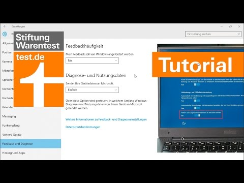 Windows 10: Tutorial Datenschutz-Einstellungen anpassen
