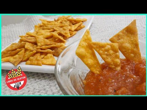Videos caseros - Nachos sin TACC (sin gluten) caseros y sin lácteos + salsita picante