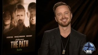 "FUN AARON PAUL INTERVIEW! On Sex Scenes, ""The Path,"" Better Call Saul, Crying, Whiskey & Minka Kelly"
