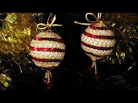 Como hacer bolas de navidad - Manualidades con bolas de navidad ...