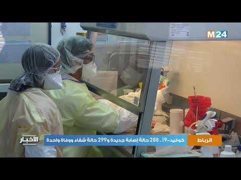 كوفيد-19.. 288 حالة إصابة جديدة و299 حالة شفاء ووفاة واحدة