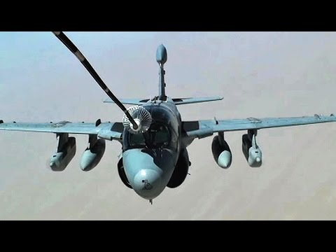 Footage of a U.S. Navy EA-6B Prowler...