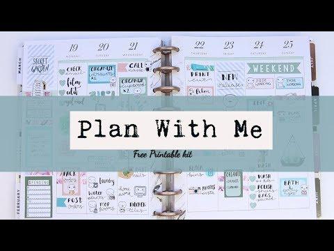 Plan with me, Free printable kit