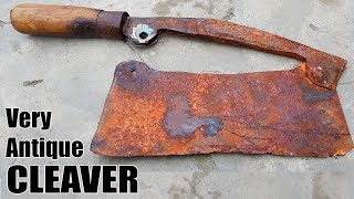Download Video Antique Rusty Butcher's Cleaver RESTORATION MP3 3GP MP4
