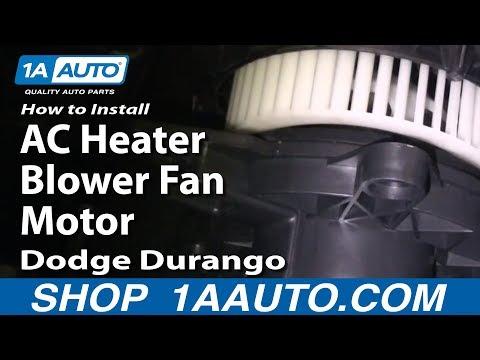 How to Install Replace AC Heater Blower Fan Motor Dodge Durango 04-09 1AAuto.com