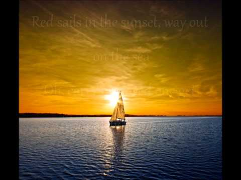Tekst piosenki Paul Anka - Red Sails in the Sunset po polsku