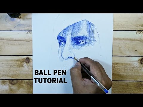 How To Draw Using Ball Pen- Tutorial For Beginners
