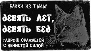 """Отважный кот Гаврош отдает жизнь за жизнью, борясь с разными тенями.Посетите наш магазин """"Темный уголок"""": http://shop.dark-ness.gaРекламное сотрудничество: https://goo.gl/6zcHaxОзвучка и оформление: Brutal Death.Свои истории можете присылать сюда: gordon55@rambler.ruНе забудь подписаться на мои группы:Твиттер: https://twitter.com/TalesFTDarknessВК: https://vk.com/club127038815Фэйсбук: https://www.facebook.com/profile.php?id=100011436351916ОК: https://www.ok.ru/talesfromthedarknessПодпишись на мой канал романтических историй: https://goo.gl/Zvgn33Подключи рекламу для своего канала: http://join.air.io/talesfromthedarknessПосети наш сайт Царство Тьмы: http://dark-ness.ga/Помоги каналу:Подкинь рублик: https://goo.gl/lOrTcZКошельки веб-мани:1) R9662784484782) Z525753068268All Copyrights belongsTo their rightful owners.If you are the authorOf the fragment video and distribute itInfringes your copyrightplease contact us.Все авторские права принадлежат Их законным владельцам.Если вы являетесь авторомФрагмента из выпуска и егоРаспространение ущемляет Ваши авторские права пожалуйста, свяжитесь с нами."""