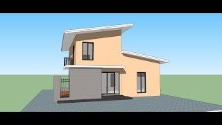 Video Sketchup  create Modern  House in 15 min. MP3, 3GP, MP4, WEBM, AVI, FLV Desember 2017