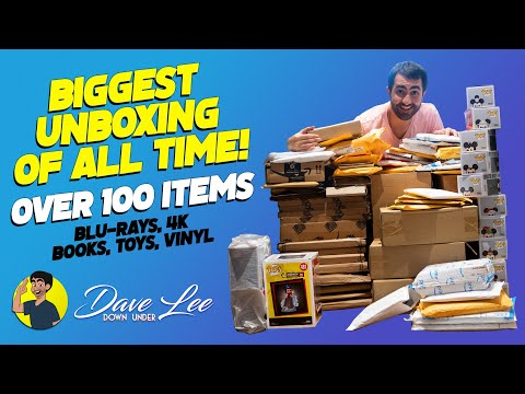 BIGGEST UNBOXING OF ALL TIME!! (over 100 items - Blu-rays, 4K, Books, Toys, Vinyl)