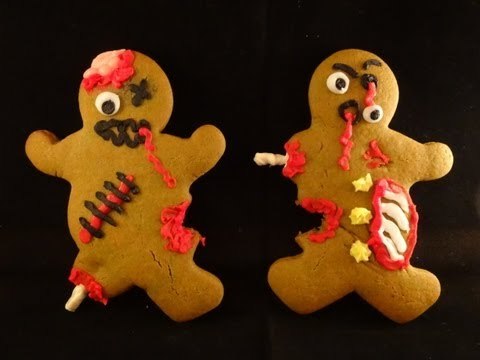 Zombie Gingerbread Men Cookies- with yoyomax12