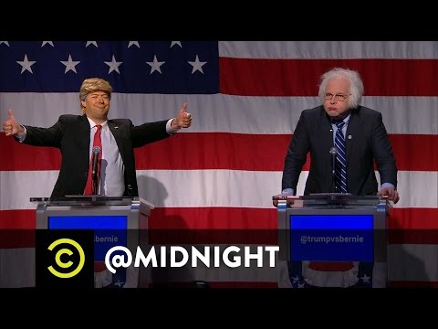 Trump vs. Bernie in the First Ever @midnight Presidential Debate - Imitation