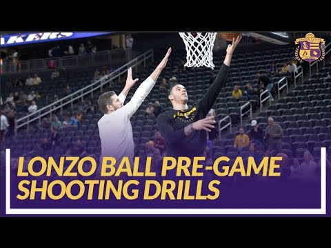 Video: Lakers Nation Pre-Game: Lonzo Ball Shooting Drills Before His First Game Back From Injury