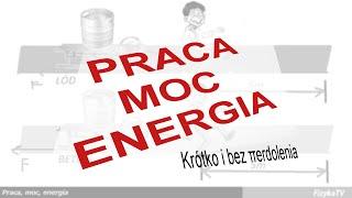 Kurs z fizyki dla każdego. Liceum i gimnazjum. Praca, moc, energia. Energia kinetyczna, energia potencjalna, sprężyny.Wykład o pracy, mocy, energii z fizyki. Wykład przy flaszce poprowadził mgr inż. M. Uziębło