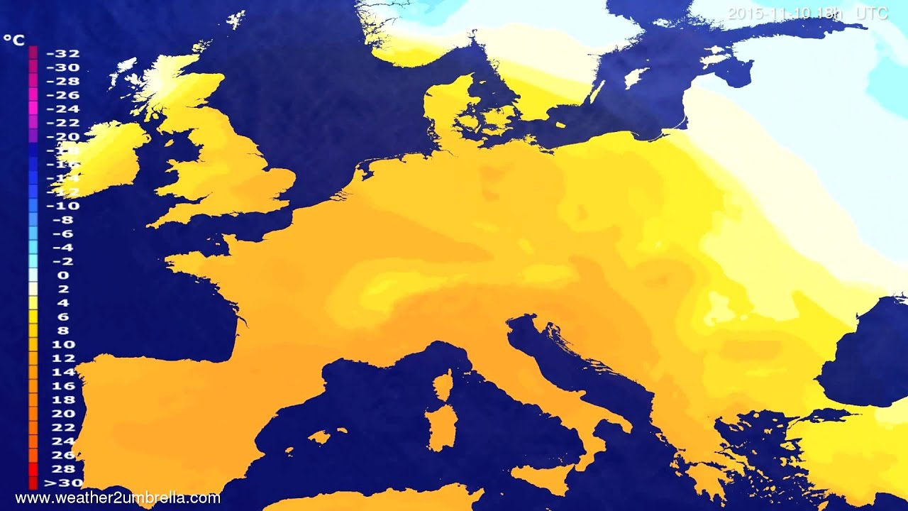 Temperature forecast Europe 2015-11-07