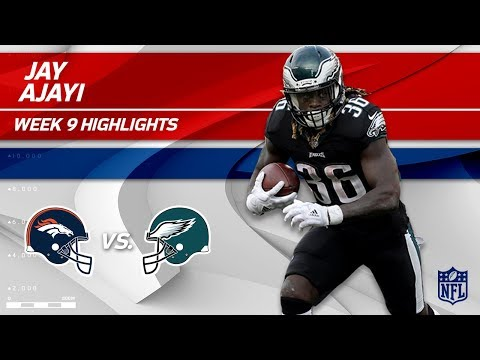 Jay Ajayi's Big Game w/ 77 Yards & 1 TD in Philly Debut! | Broncos vs. Eagles | Wk 9 Player HLs (видео)