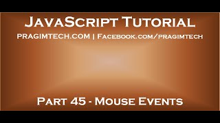 JavaScript mouse events