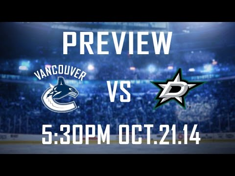 Canucks - The Canucks open up their first lengthy road trip of the season Tuesday night when they visit the Dallas Stars. Vancouver will be looking for a better showing against their Texas rivals after...