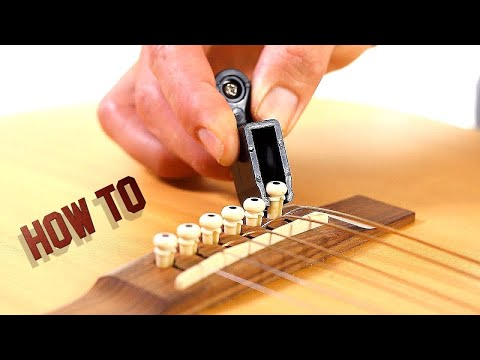 How to Remove Guitar Strings – Acoustic Guitar Maintenance