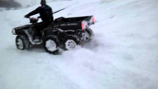3. Snow Riding Polaris Big Boss 6x6 QuadSquad