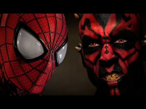 VIDEO: 'SPIDERMAN vs DARTH MAUL' Super Power Beat Down – Original + Alternate Ending