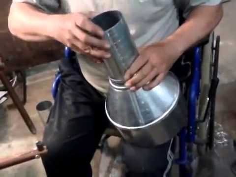 Изготовление воронки из жести своими руками