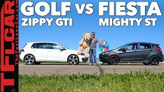 Game Show: Is the Volkswagen Golf GTI Faster Than A Ford First ST? Ep.3 by The Fast Lane Car