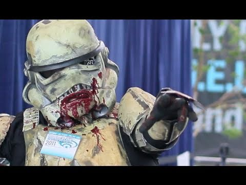 markdayresponse - WonderCon 2011: Star Wars Zombie Stormtrooper More WonderCon here: http://www.youtube.com/watch?v=bawJHRXKcWs deathtrooper.